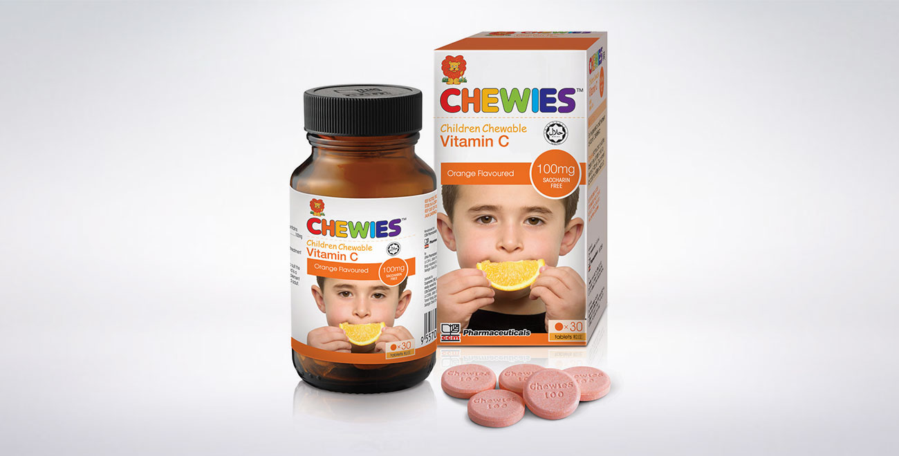 CHEWIES Vit C 100mg Tablet (Orange)