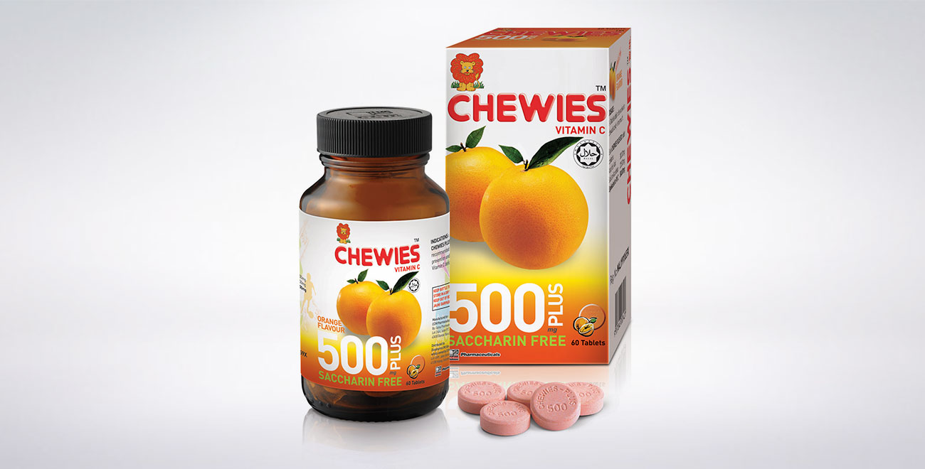 CHEWIES Vit C 500mg Plus Tablet (Orange)