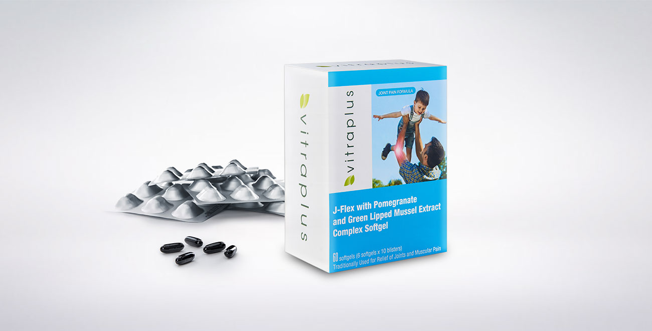 J-Flex with Pomegranate and Green Lipped Mussel Extract Complex Softgel